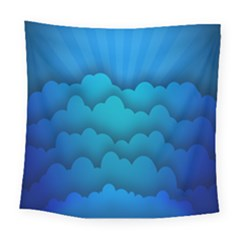 Blue Sky Jpeg Square Tapestry (large)