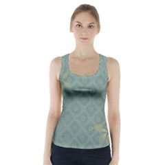Shadow Flower Racer Back Sports Top