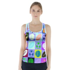 Sports Ball Racer Back Sports Top