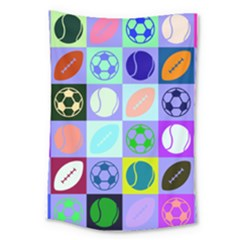 Sports Ball Large Tapestry