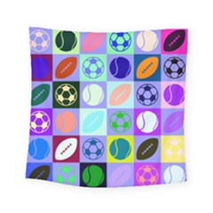 Sports Ball Square Tapestry (small)