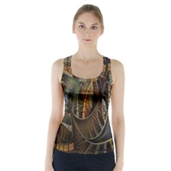 Mosaics Stained Glass Racer Back Sports Top