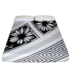 Stripe Seamless Flower Fitted Sheet (king Size)