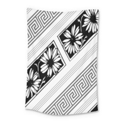 Stripe Seamless Flower Small Tapestry