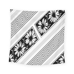 Stripe Seamless Flower Square Tapestry (small)