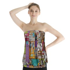 Rol The Film Strip Strapless Top