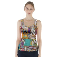 Rol The Film Strip Racer Back Sports Top