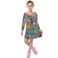 Rol The Film Strip Kids  Long Sleeve Velvet Dress