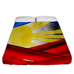 Blue Red Yellow Colors Fitted Sheet (queen Size)