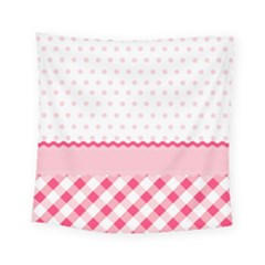 Cute Cartoon Decorative Pink Square Tapestry (small)