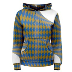Curve Yellow Blue Women s Pullover Hoodie