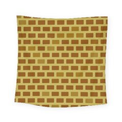 Tessellated Rectangles Lined Up As Bricks Square Tapestry (small)