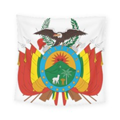 Coat Of Arms Of Bolivia  Square Tapestry (small)