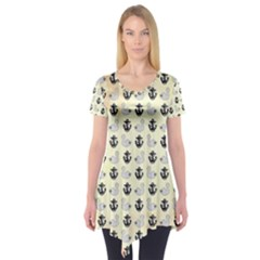 Swan Anchor Yellow Goose Short Sleeve Tunic