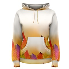 Autumn Leaves Colorful Fall Foliage Women s Pullover Hoodie