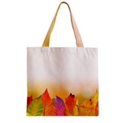 Autumn Leaves Colorful Fall Foliage Zipper Grocery Tote Bag