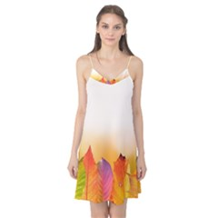 Autumn Leaves Colorful Fall Foliage Camis Nightgown