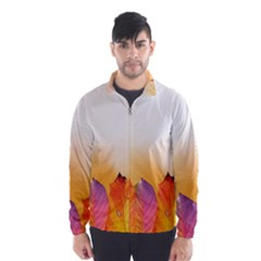 Autumn Leaves Colorful Fall Foliage Wind Breaker (men)