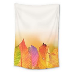 Autumn Leaves Colorful Fall Foliage Large Tapestry