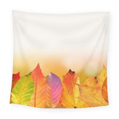 Autumn Leaves Colorful Fall Foliage Square Tapestry (large)