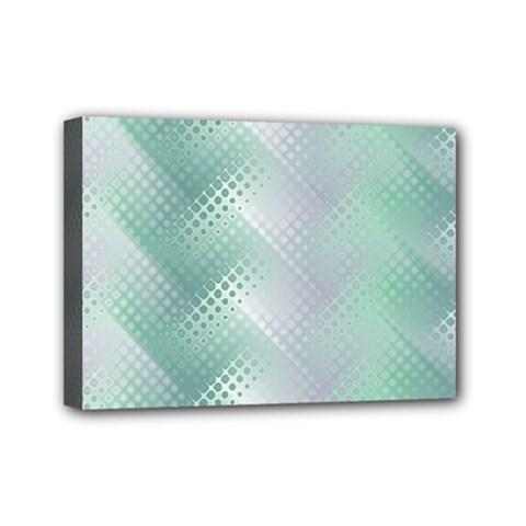 Background Bubblechema Perforation Mini Canvas 7  X 5