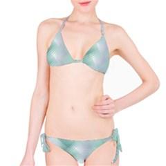 Background Bubblechema Perforation Bikini Set
