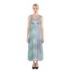 Background Bubblechema Perforation Sleeveless Maxi Dress