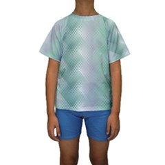 Background Bubblechema Perforation Kids  Short Sleeve Swimwear