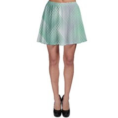 Background Bubblechema Perforation Skater Skirt