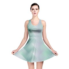 Background Bubblechema Perforation Reversible Skater Dress