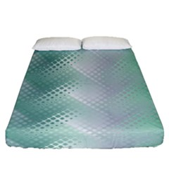 Background Bubblechema Perforation Fitted Sheet (queen Size)