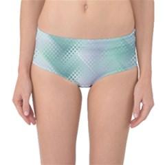 Background Bubblechema Perforation Mid Waist Bikini Bottoms