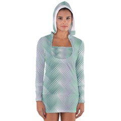 Background Bubblechema Perforation Women s Long Sleeve Hooded T Shirt