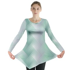 Background Bubblechema Perforation Long Sleeve Tunic