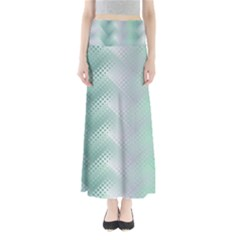 Background Bubblechema Perforation Maxi Skirts