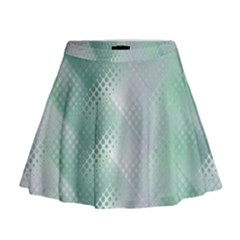 Background Bubblechema Perforation Mini Flare Skirt