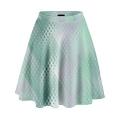 Background Bubblechema Perforation High Waist Skirt