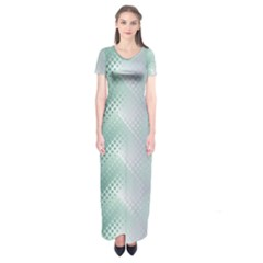 Background Bubblechema Perforation Short Sleeve Maxi Dress