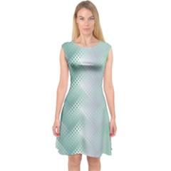 Background Bubblechema Perforation Capsleeve Midi Dress