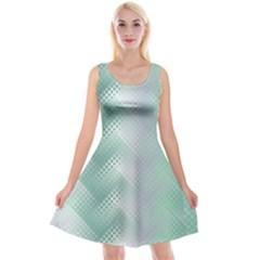 Background Bubblechema Perforation Reversible Velvet Sleeveless Dress