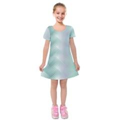 Background Bubblechema Perforation Kids  Short Sleeve Velvet Dress