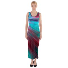Background Texture Pattern Design Fitted Maxi Dress