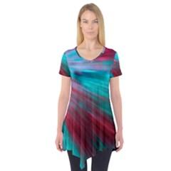 Background Texture Pattern Design Short Sleeve Tunic