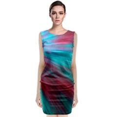 Background Texture Pattern Design Sleeveless Velvet Midi Dress