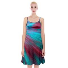 Background Texture Pattern Design Spaghetti Strap Velvet Dress