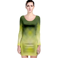 Background Textures Pattern Design Long Sleeve Bodycon Dress
