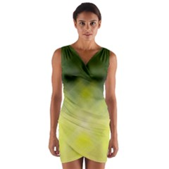 Background Textures Pattern Design Wrap Front Bodycon Dress