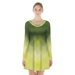 Background Textures Pattern Design Long Sleeve Velvet V Neck Dress