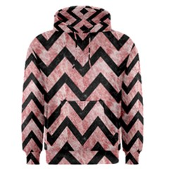 Chevron9 Black Marble & Red & White Marble (r) Men s Pullover Hoodie