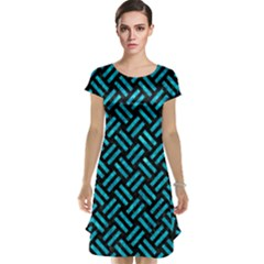 Woven2 Black Marble & Turquoise Marble Cap Sleeve Nightdress